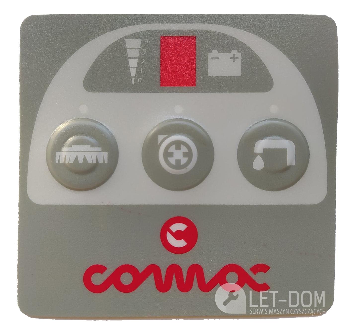 Naklejka panel sterowania Comac Vispa